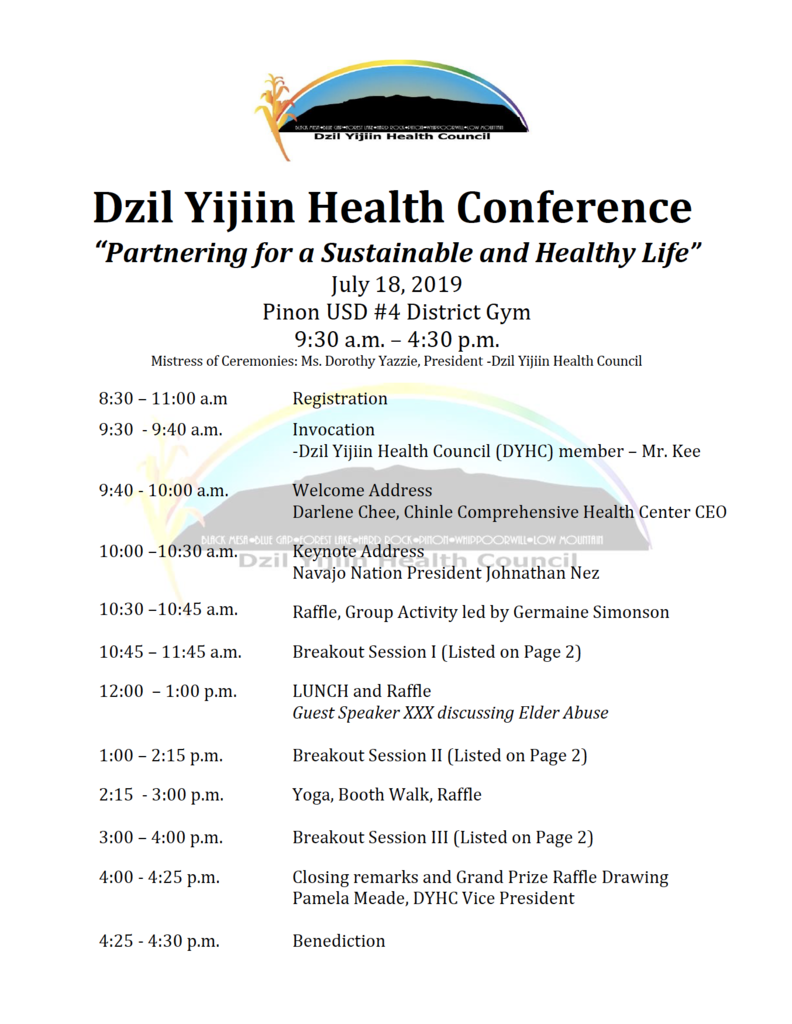 Health Summit Agenda